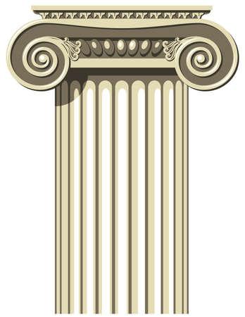 Vector illustration d'une colonne grecque ionique. Vecteurs