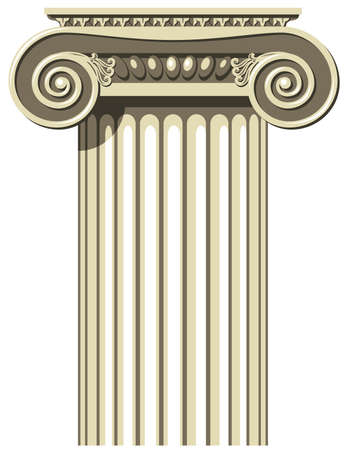 stability: Vector illustration of a Greek Ionic Column.