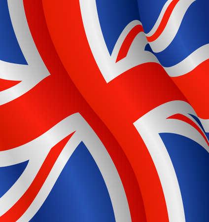 bandiera gran bretagna: Illustrazione di vettore di bandiera del Regno Unito Vettoriali