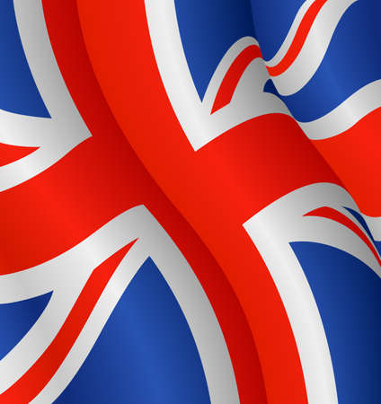 Vector illustration of the flag of the United Kingdom