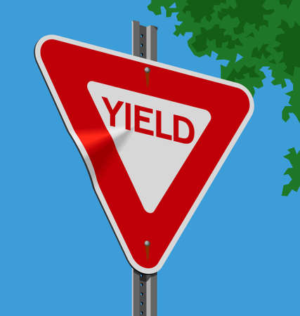 Vector illustration of a street sign � Yield