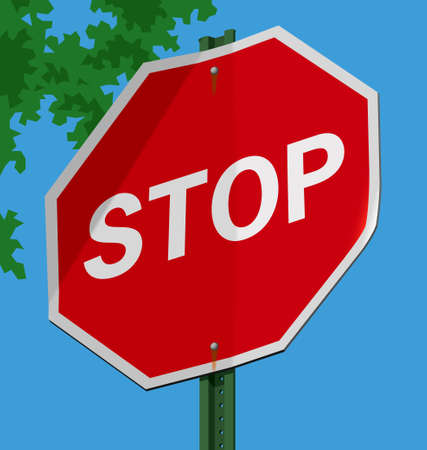 Vector illustration of a street sign � Stop