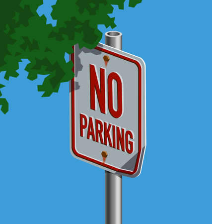 Vector illustration of a street sign � No Parking