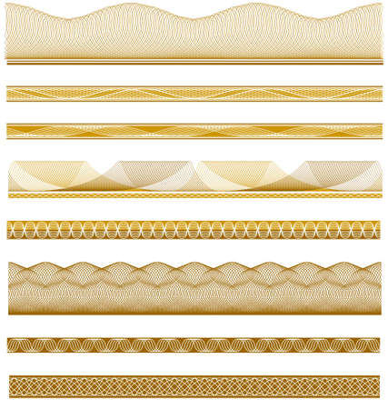 Vector illustration of various intricate borders for certificates, awards, coupons, etc.