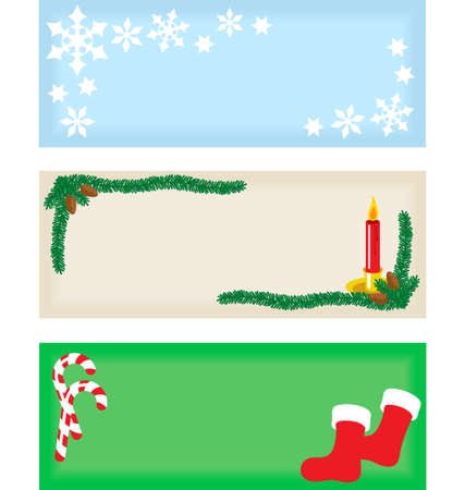 Set of three Christmas tags. Vector art is layered and grouped for simple rearrangement of elements. Banco de Imagens - 4066920