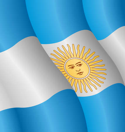 waves: Vector illustration of the flag of Argentina