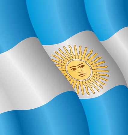Vektor-Abbildung von der Flagge Argentiniens Standard-Bild - 5035661