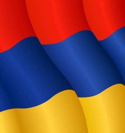 Vector illustration of the flag of Armenia