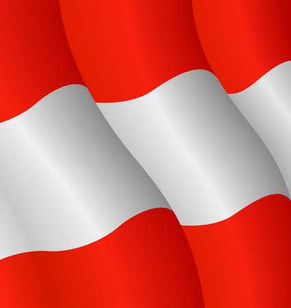 Vector illustration of the flag of Austria Ilustração