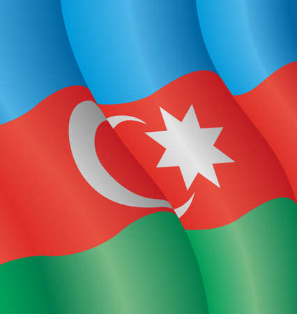Vector illustration of the flag of Azerbaijan