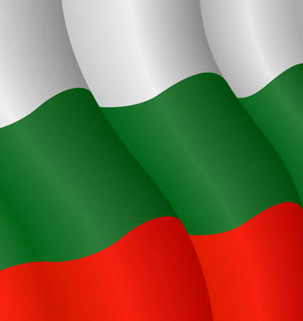 Vector illustration of the flag of Bulgaria