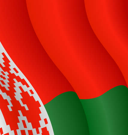 Vector illustration of the flag of Belarus