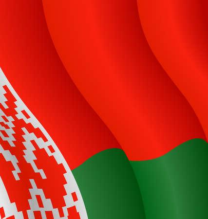 Vector illustration of the flag of Belarus