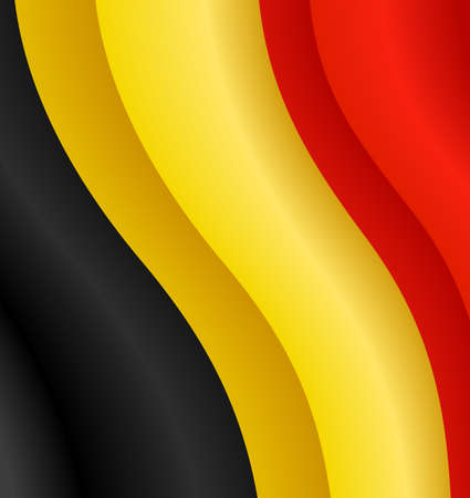 Vector illustration of the flag of Belgium