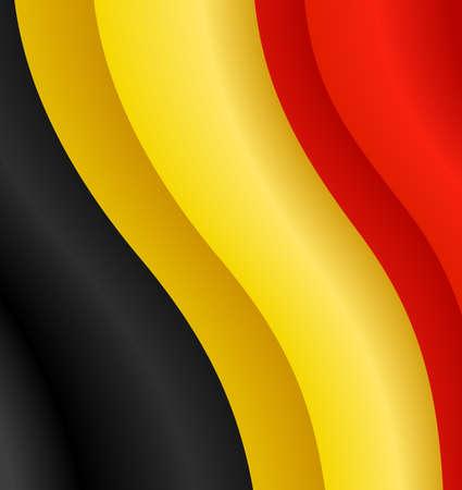 belgique: Vector illustration of the flag of Belgium