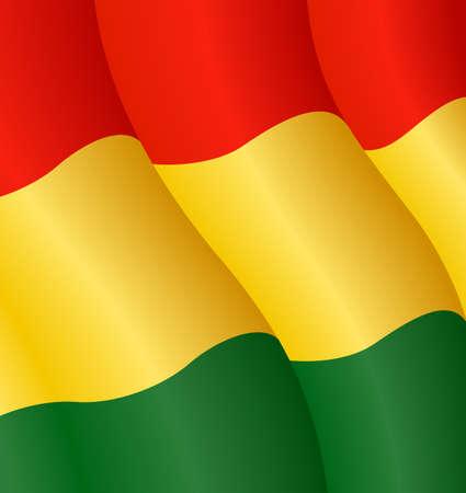 Vector illustration of the flag of Bolivia Ilustração