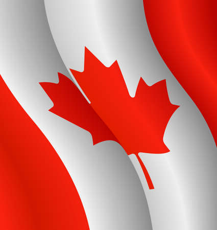 Vector illustration of the flag of Canada
