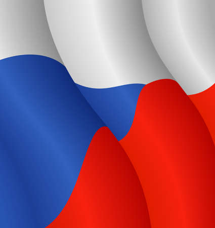 Vector illustration of the flag of the Czech Republic