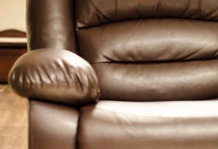 comfortable: A comfortable leather armchair.