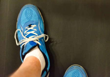 Walking on a treadmill Zdjęcie Seryjne