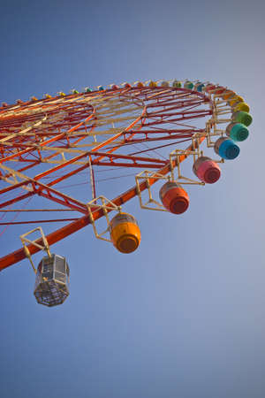 Daikanransha ferris wheel at Palette Town in Odaiba, Tokyo, Japan Editöryel