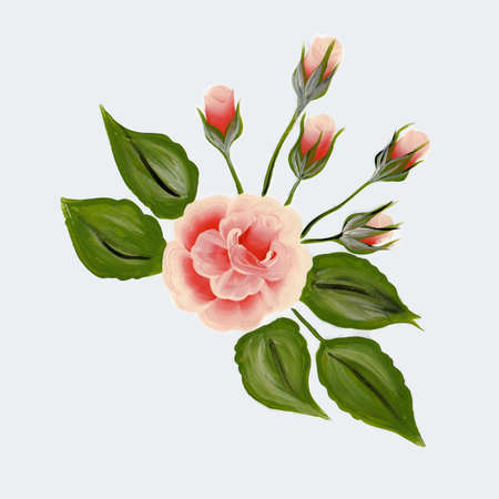 Rose - One stroke painting