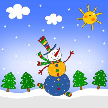 Snowman. Illustration for children illustration