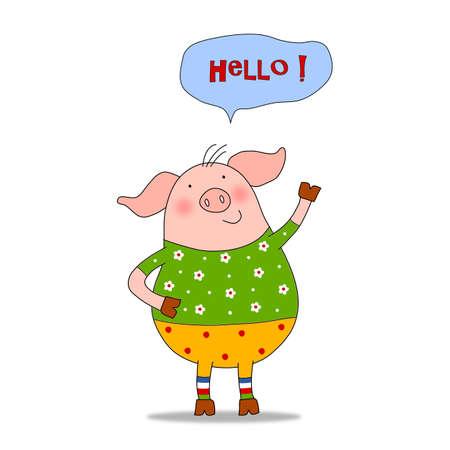 hello: Cartoon character