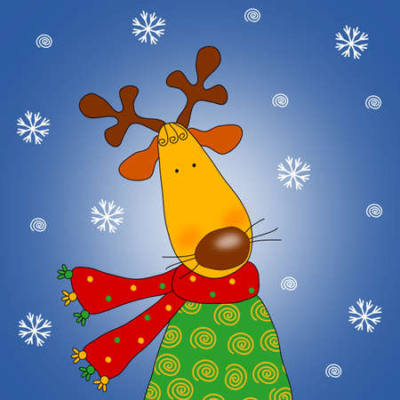 Reindeer - Cartoon character photo