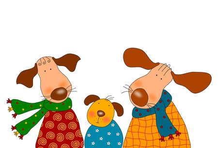 Dogs - Cartoon characters photo