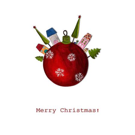 Christmas card Reklamní fotografie - 11432288