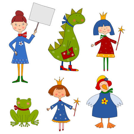 Set of cartoon characters photo