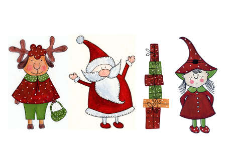 Christmas Decorative elements Imagens