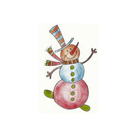 Snowman - Handmade illustration illustration
