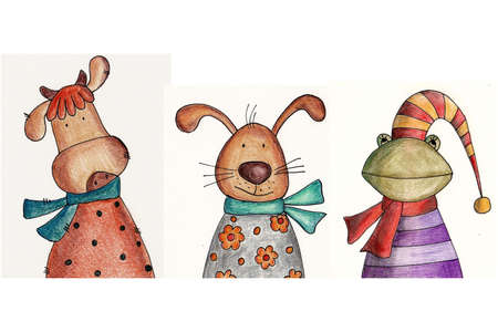 Cartoon characters Stock Photo - 11696643