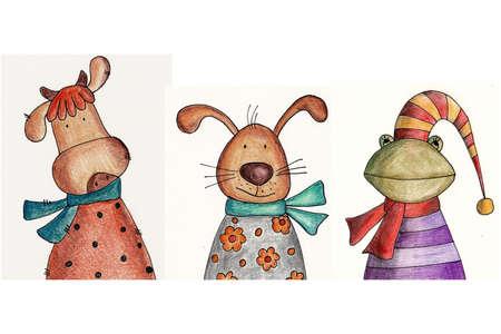 Cartoon characters photo