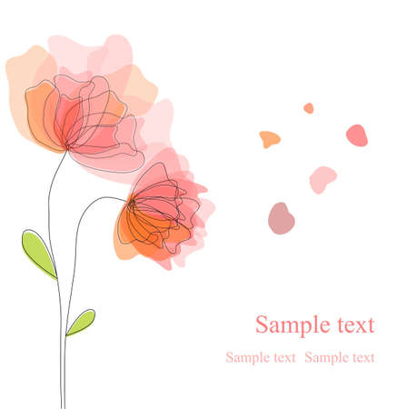 baby romantic: Floral background