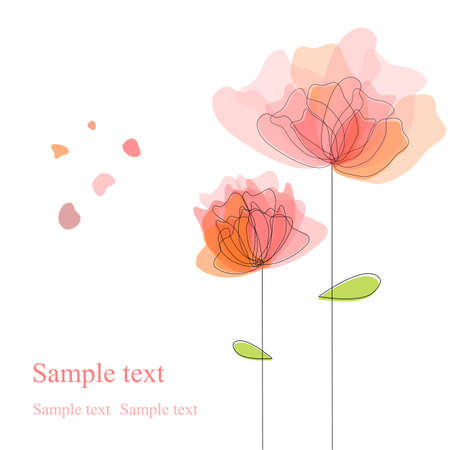 copy: Floral background