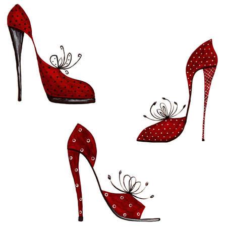 Shoes - decorative elements Stock Photo