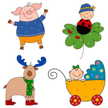Cartoon characters Stock Photo - 11696579