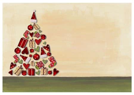 Collage. Christmas tree photo