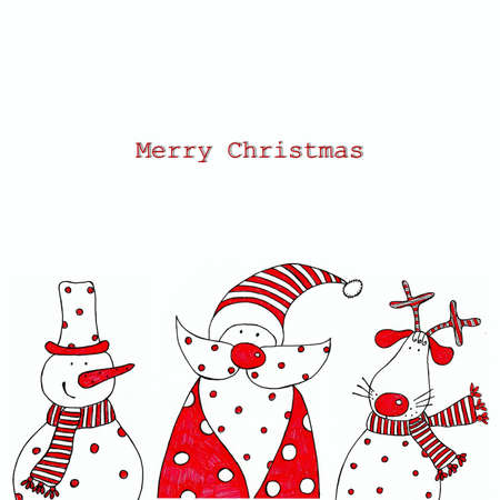 Christmas decorative elements photo