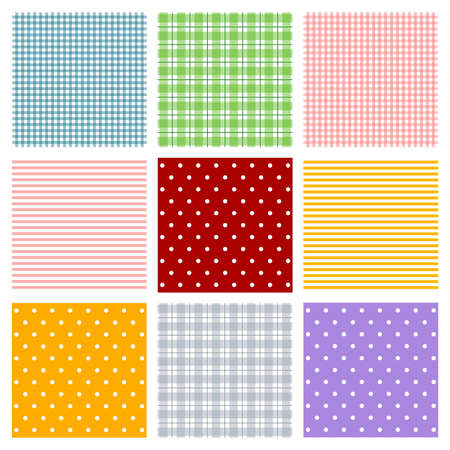 baby card: Seamless patterns Stock Photo