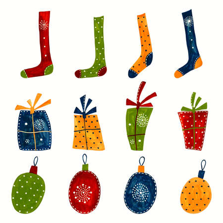 Christmas decorative elements Reklamní fotografie - 11696647