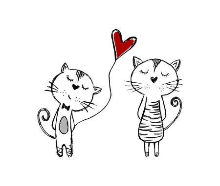 Valentine  Handmade ink illustration