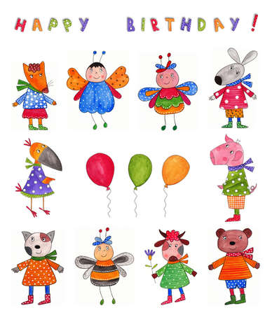 Happy Birthday  Greeting card photo
