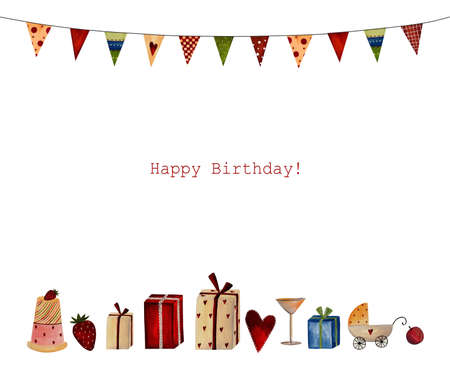 Happy Birthday  Greeting card Imagens