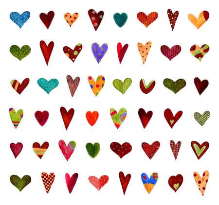 Hearts  Set of decorative elements