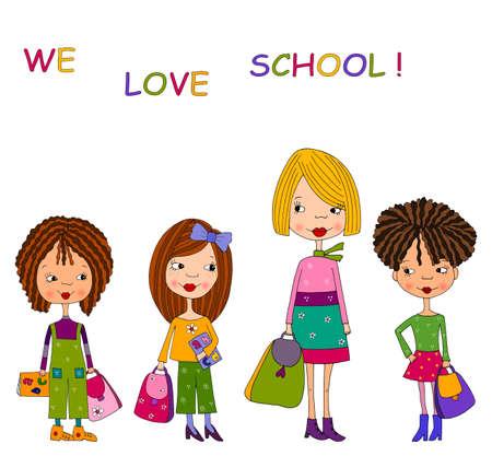 herrin: Schule M�dchen Lizenzfreie Bilder