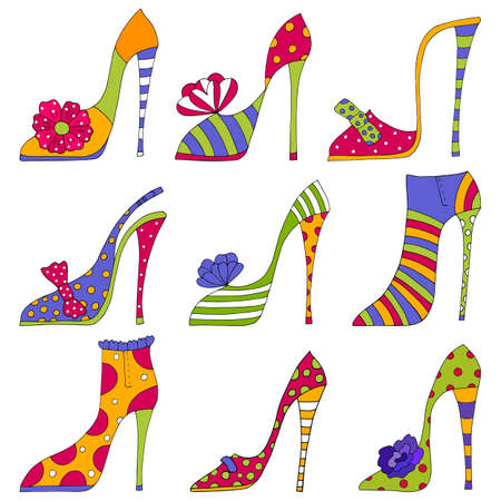 woman isolated: Fashion shoes  Decorative elements